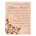 Autumn Tree of Delight 4.25x5.5 Paper Invitation Card