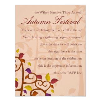 "Autumn Tree of Delight 4.25"" X 5.5"" Invitation Card"