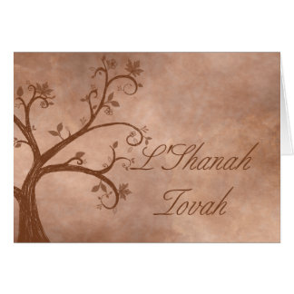 Autumn Tree on Distressed Background Card