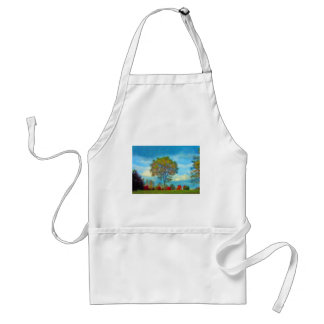 Autumn Tree Painting Aprons