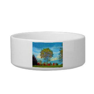 Autumn Tree Painting Bowl