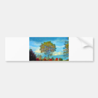 Autumn Tree Painting Bumper Sticker