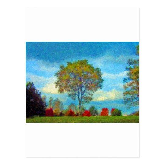 Autumn Tree Painting Postcard