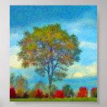 Autumn Tree Painting Print