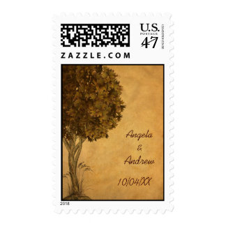 Autumn Tree Parchment-Look Postage
