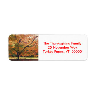 Autumn Tree Photo Return Address Labels Sticker