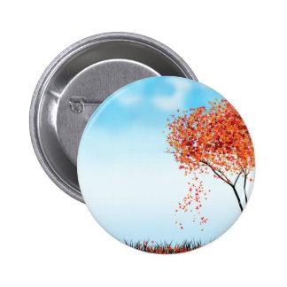Autumn tree pinback button