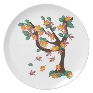 Autumn Tree Dinner Plates