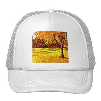 Autumn Tree Scene Trucker Hat