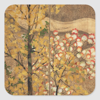 Autumn Tree Square Sticker
