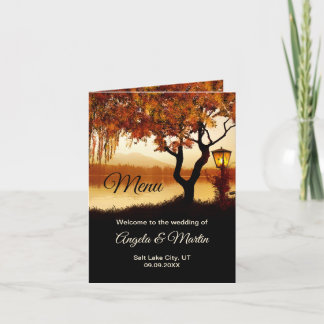 Autumn Tree Thanksgiving or Wedding Menu Template