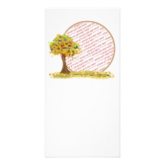 Autumn Tree with Falling Leaves Photo Frame Photo Cards