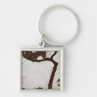 Autumn Tree with Fuchsias Keychain