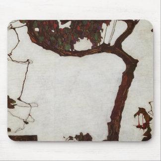 Autumn Tree with Fuchsias Mouse Pad