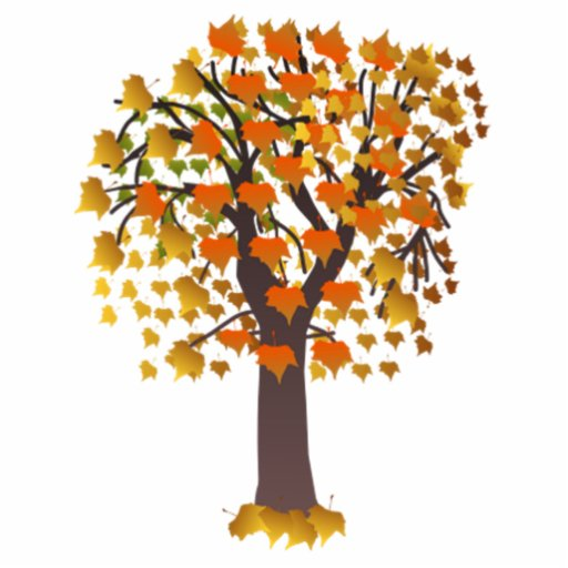 Autumn Tree With Leaves Cut Outs Zazzle