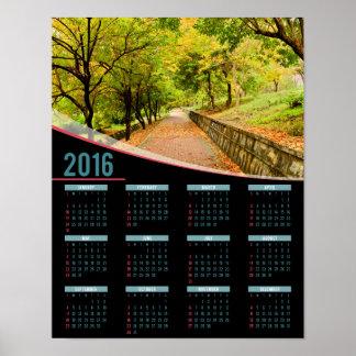 Autumn Trees 2016 poster calendar