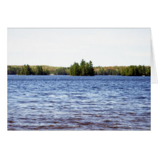 Autumn Trees and Water Blank Card