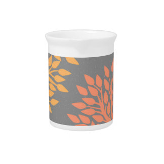 Autumn trees beverage pitcher