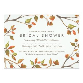 Autumn Trees Bridal Shower Card