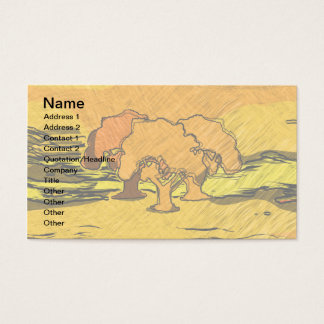 AUTUMN TREES BUSINESS CARD