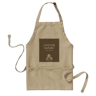 AUTUMN TREES GREEN, LOVE FOR NATURE ADULT APRON