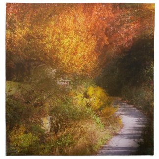 Autumn - Trees - Heaven's trail Cloth Napkin