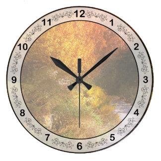 Autumn - Trees - Heaven's trail Large Clock