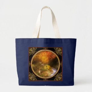 Autumn - Trees - Heaven's trail Large Tote Bag