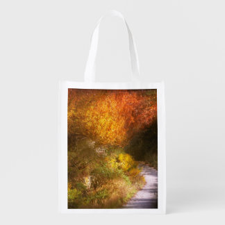Autumn - Trees - Heaven's trail Reusable Grocery Bag