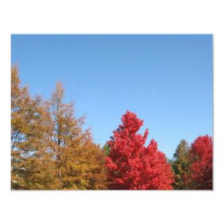 Autumn Trees Custom Announcement