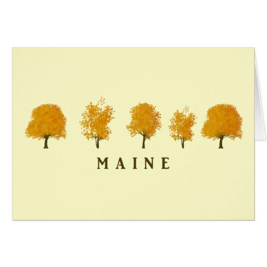 Autumn Trees - Maine Card