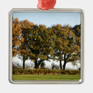 Autumn trees metal ornament