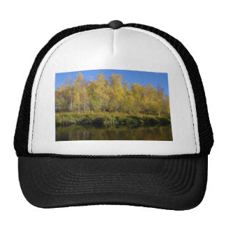 AUTUMN TREES MIRRORED IN WATER TRUCKER HAT