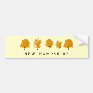 Autumn Trees - NH Bumper Sticker
