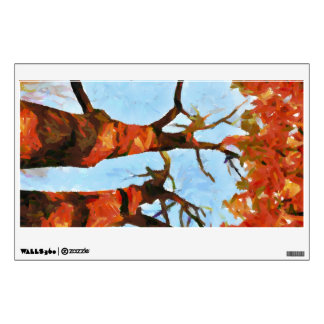 Autumn trees painting wall decals