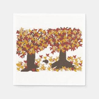 Autumn Trees Paper Napkins