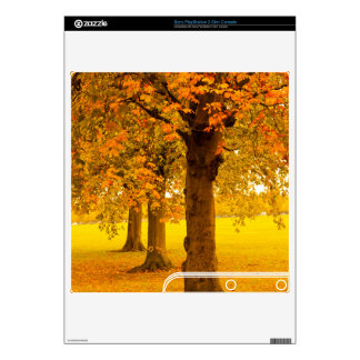 Autumn trees PS3 slim console decals