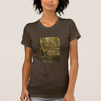 Autumn trees standing in water tshirt
