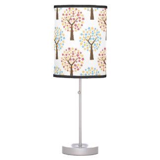 autumn trees table lamp