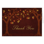 Autumn Trees Thank You Card