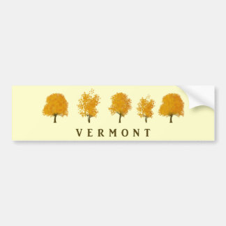 Autumn Trees - Vermont Bumper Sticker