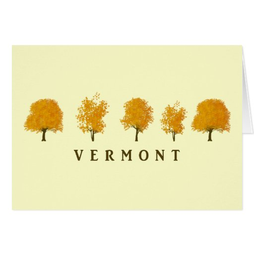 Autumn Trees - Vermont Greeting Card