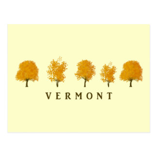 Autumn Trees - Vermont Postcard