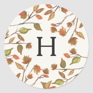 Autumn Trees Wedding Classic Round Sticker