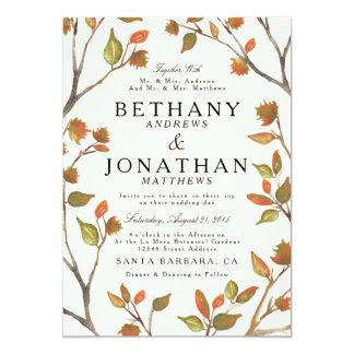 Autumn Trees Wedding Invitation