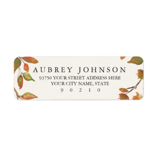 Autumn Trees Wedding Label