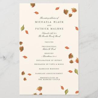 Autumn Trees Wedding Program