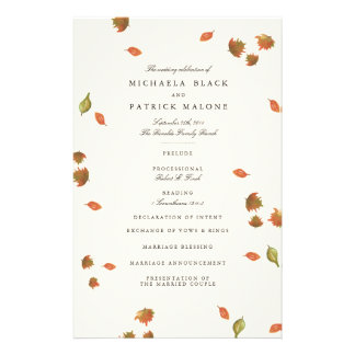 Autumn Trees Wedding Program