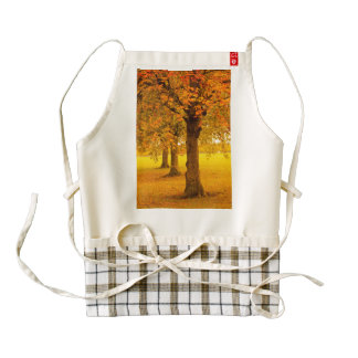 Autumn trees zazzle HEART apron