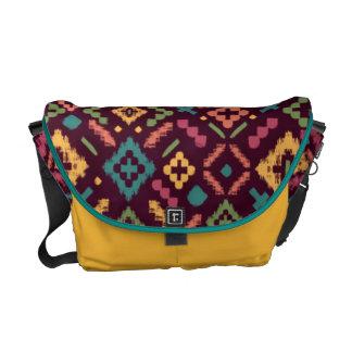 Autumn Tribal Seamless Pattern Messenger Bag
